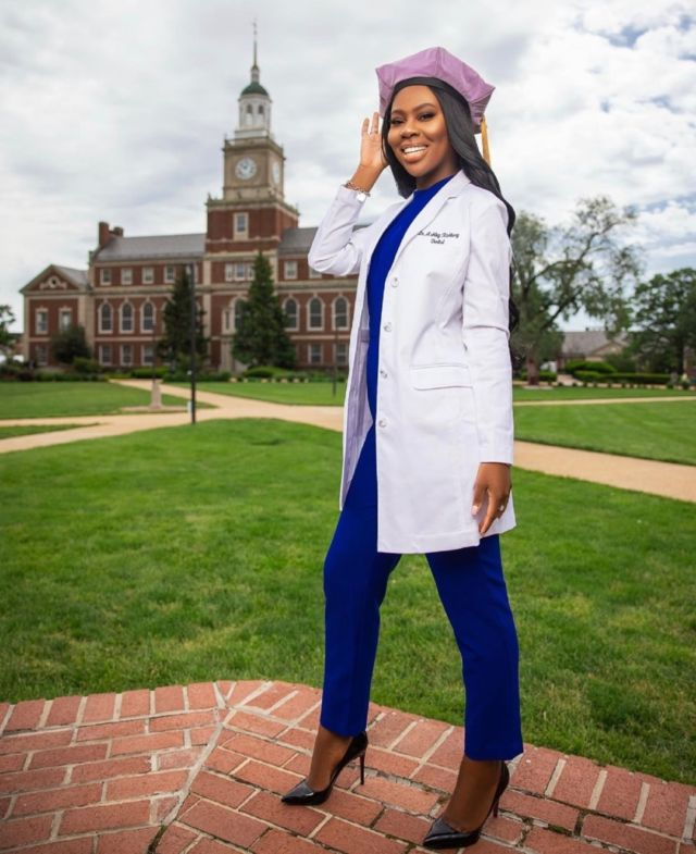 """@fierce4eva •  Howard University College of Dentistry • DDS . . """"❤️Made at The Mecca 💙 📸: @byseneca """" . . Be sure to use the link in our bio to make your #MelaninMerch purchase and join the  Melanin Doc family!  www.melanindocs.com/shop  • • •  #blackexcellence #minorities #theshaderoom #daquan #motivation #doctor #medicine #love #instagood #tbt #happy #followme #fun #life #melanin #black #beautiful"""