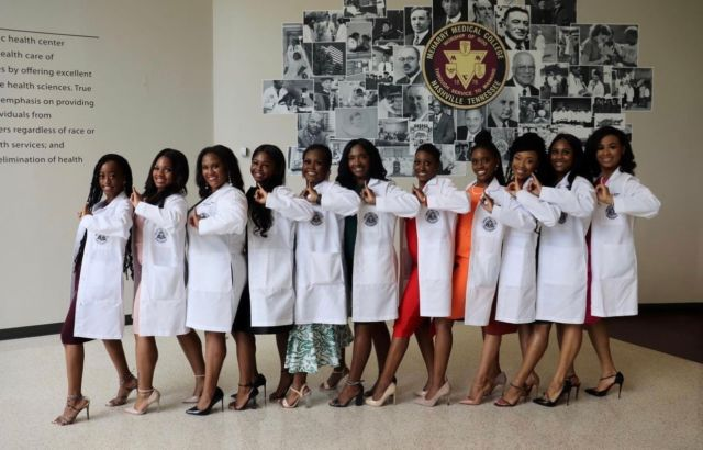 """@meharrysod2025 • Meharry School of Dentistry • D1 . . """"The illustrious women of Alpha Kappa Alpha Sorority, Inc., the women who wear pink & green so gracefully."""" . Be sure to use the link in our bio to make your #MelaninMerch purchase and join the  Melanin Doc family!  www.melanindocs.com/shop • • • •  #blackexcellence #minorities #theshaderoom #daquan #motivation #doctor #medicine #love #instagood #tbt #happy #followme #fun #life #melanin #black #beautiful"""